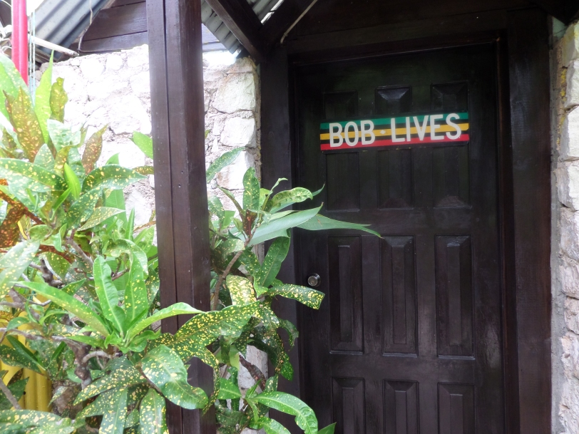 Entrance to Bob Marley's house in 9 Miles