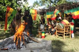 Fire at the Rastafarian Indigenous Village