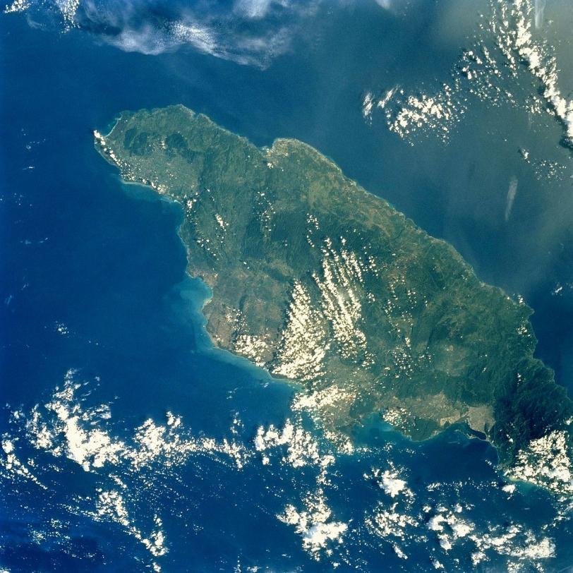 Satellite Image Photo Island Jamaica