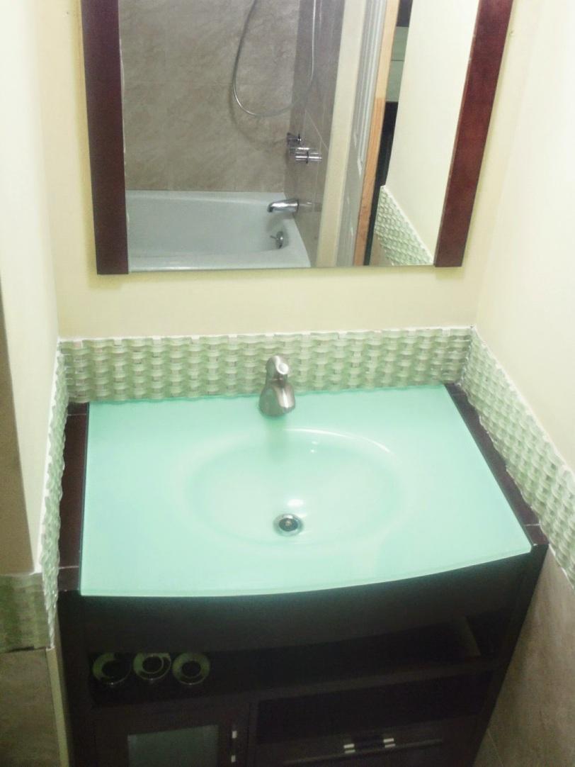 Bathroom vanity at at Ocean Front Montego Bay Club #508