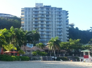 View of Montego Bay Club from the beach