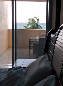 View from your bed at Ocean Front Montego Bay Club #508