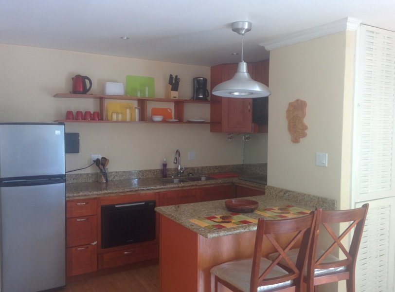 Fully equipped Kitchen at Ocean Front Montego Bay Club #508